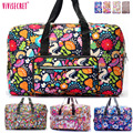 Famous Brand Waterproof Nylon Folding Portable Large Capacity Floral Cartoon Travel luggage bag packing organizer Pouch