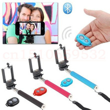 3 in 1 Bluetooth Remote Shutter Selfie Stick Extendable Handheld Monopod with holder clip For Cell Phone i9300 i9500 n9006