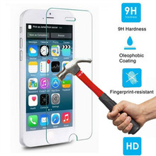 2x For iphone 5 5s Tempered Glass Screen Protector Toughened Protective Cover Film Foil For iphone 5 5s +Box+Clean Kits