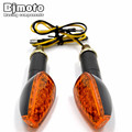 Universal Motorcycle Black LED Turn Signal Light Indicators Blinker Flashers For Yamaha Honda Dirt Bike