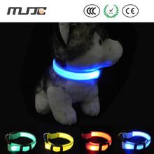 Светящийся ошейник с полосой света светящийся ошейник светодиодной вспышкой цепь собаки поводок аксессуары для собак товары для домашних животных mascotas collares