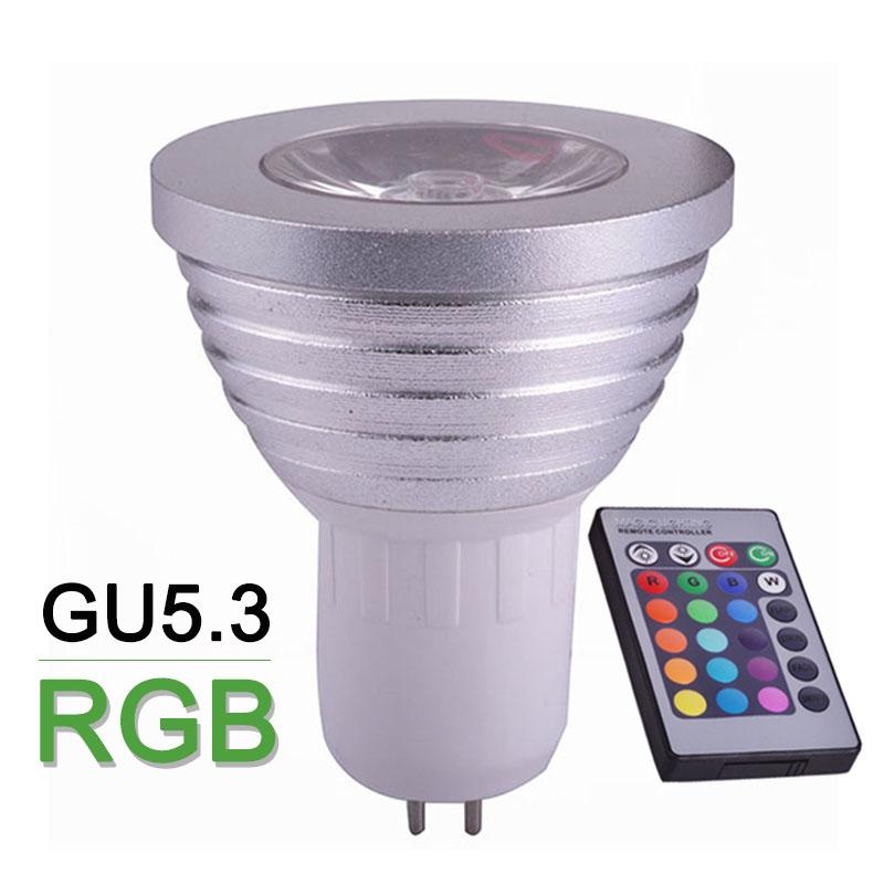 GU5.3 RGB LED Bulb Light 4W 110V 220V LED Spotlight Colourful With 24keys IR Remote Festival Decoration LED RGB Lamp Spot Light(China (Mainland))