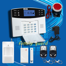 DHL Free Shipping!Spanish French English Russian Voice language 106 zone wireless and wired LCD GSM alarm system with intercom(China (Mainland))