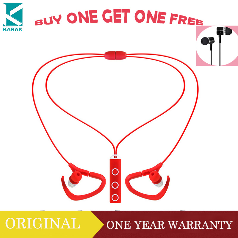 Buy One Get One Free Blue tooth Wireless Earbuds Music Stereo Earphones With Mic For Sport Running(China (Mainland))
