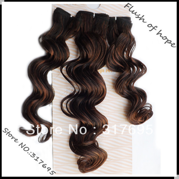 Noble Gold Uk Fashion Synthetic Hair Extensions Premium Quality Long Wavy Hair Weaving Weave 20