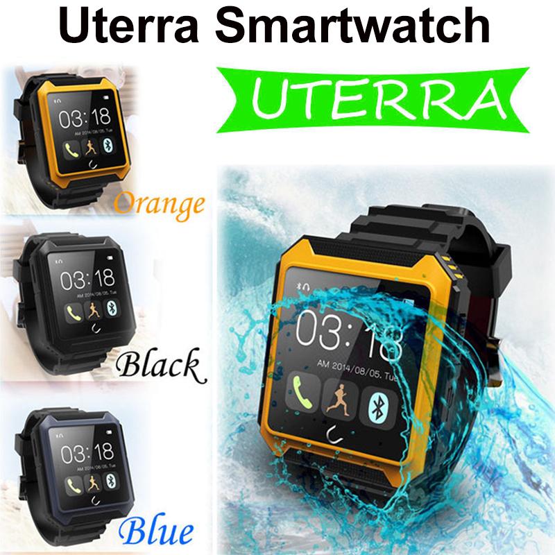 Uterra Bluetooth Smart wrist watch Waterproof IP68 Pedometer Smart Watch wristwatch Camera for Android Samsung montre relogio