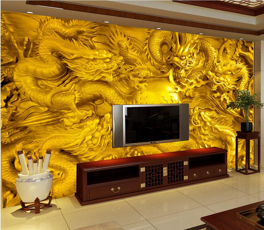 Compare prices on dragon murals online shopping buy low for Dragon mural wallpaper