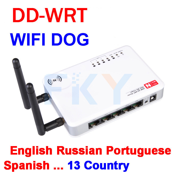 DD-WRT Wireless Router 2.4GHz Wifi Dog  WIFI Repeater Home Network Range Expander 13 countries Russian English Spanish etc.(China (Mainland))