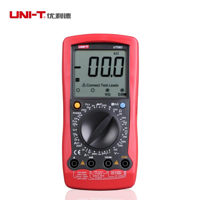 UNI-T UT58D General Digital Multimeter Modern DC AC Volt Amp Multi Tester Manual Range with Diode Transistor<br><br>Aliexpress