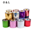 1roll 6cmX120m Nail Art Foil Transfer Stickers 50Designs Shiny Star Nail Styling Tools Manicure Nail Decorations
