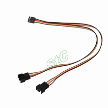 5Pcs GDT PC 4pin to 2x4pin Fan cable Female to Dual Male Y Splitter Adapter wire PWM Convert Connector Extension 30cm 0.98""