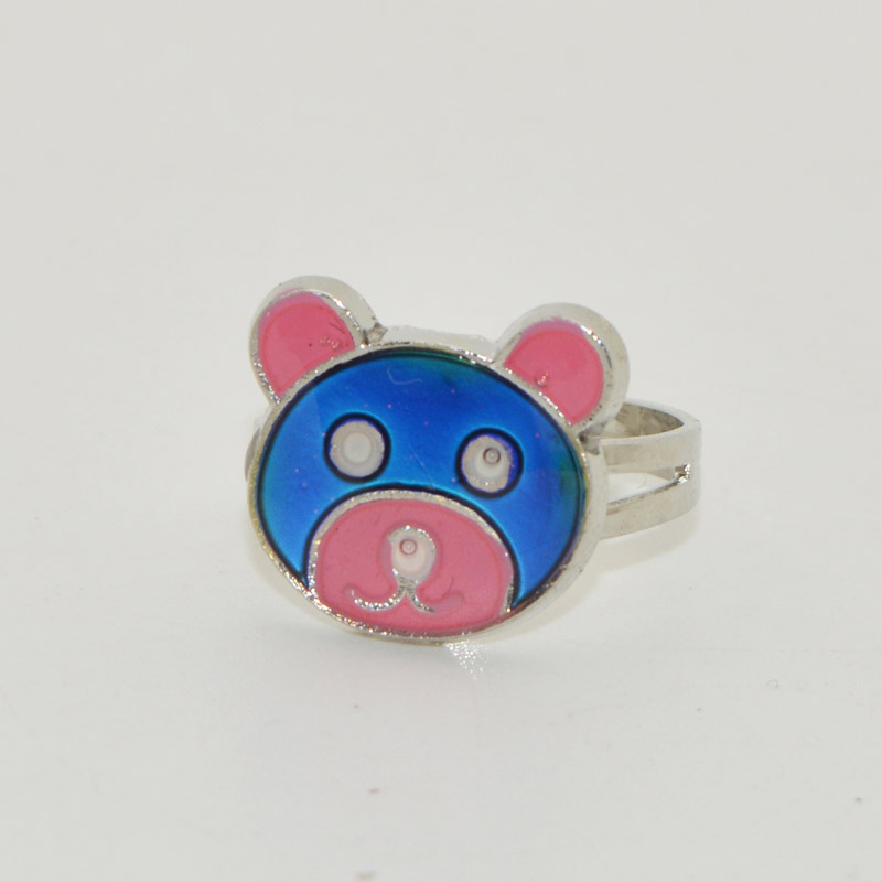 2016 Fashion New most lovely little Bear mood change color ring According to the temperature change colors Free shipping(China (Mainland))
