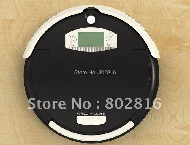 Free Shipping For Russian Buyer/Wet and Dry Intelligent Robot Vacuum Cleaner with 2500MAH battery 2pcs side Brushes CE Rosh