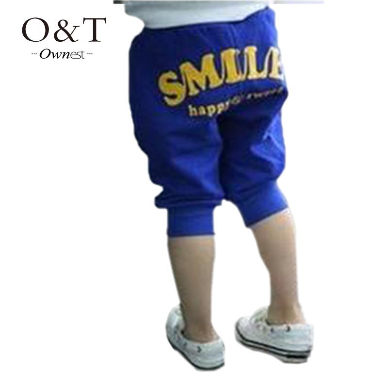 2015 Hot sale Kids Pants Smile Pattern Casual Harem Pants Baby Cotton Trousers