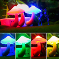 US Plug 4 Colors Wall Socket Lovely Cute Yellow Mushroom Shape LED Night Light Lamp Living
