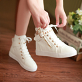 2017 spring and autumn all casual canvas shoes to help women side zipper rivets students flat