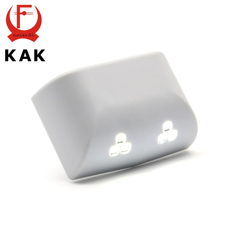 KAK Universal 0.25W Inner Hinge Six LED Sensor Nigjt Light For Kitchen Bedroom Living Room Cabinet Cupboard Closet Wardrobe(China (Mainland))