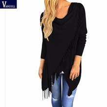 Durable Top 2016 New Arrival Vestidos Novelty Bow Collar Tassel Women Shirts For Women Tops Blouses Blusas Y Camisas Mujer(China (Mainland))