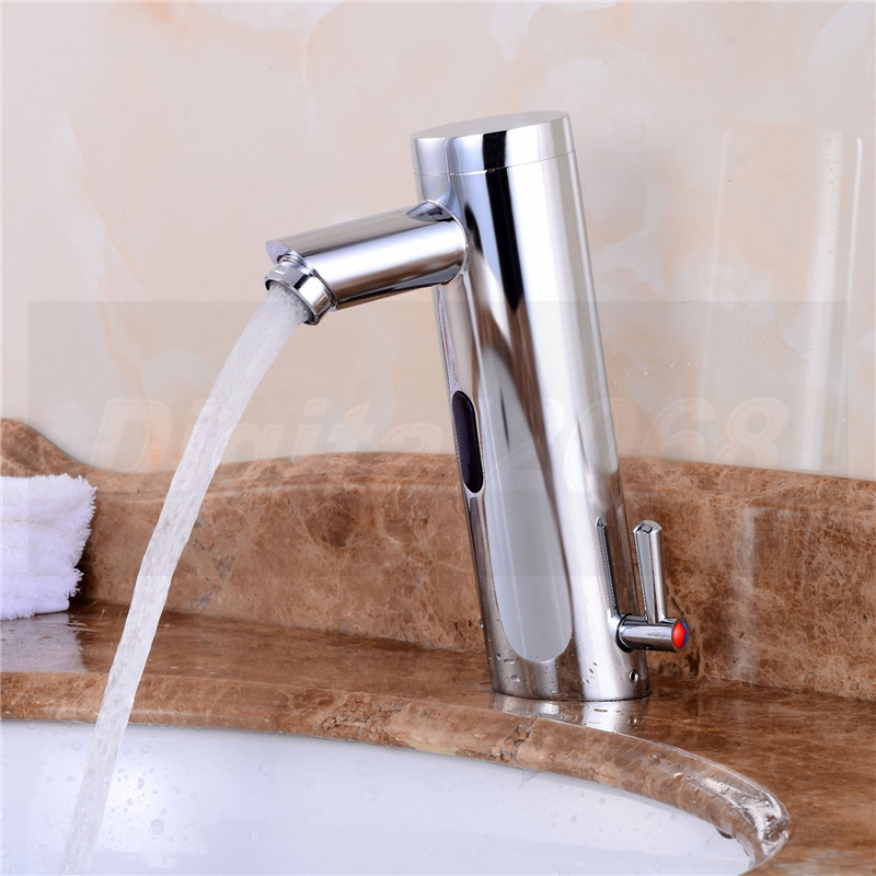 Free Shipping Motion Sensor Faucet Automatic Hand Touchless Tap Hot Cold  Mixer Bathroom Sink Infrared Faucet Mixer
