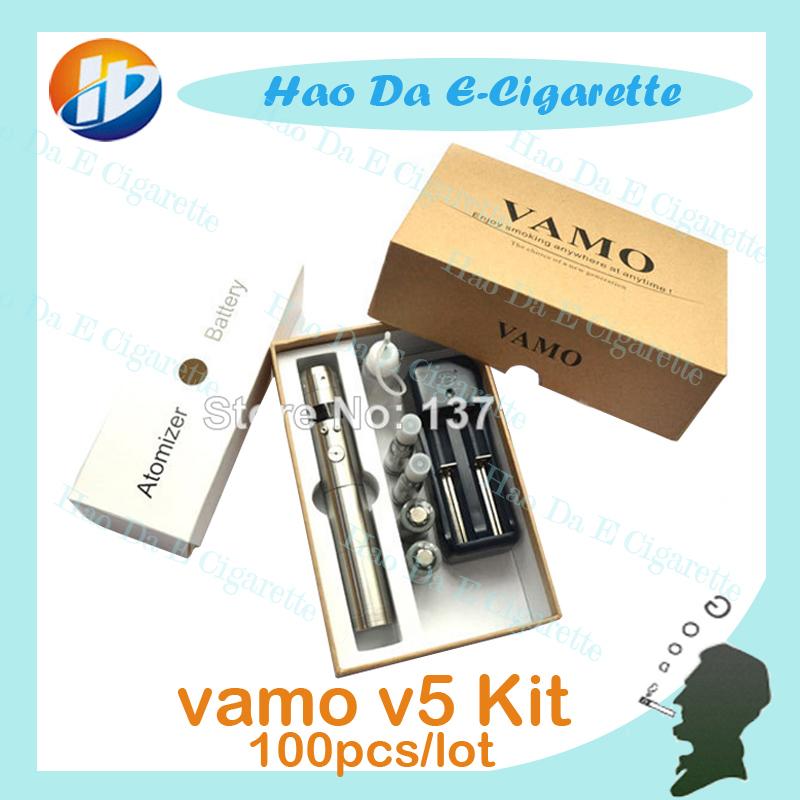 vamo v5 cigarette electronique mechanical mod kits,vamo best e cigarette with rechargeable battery CE4 e liquid atomizer 100pcs(China (Mainland))