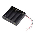 2 pcs lot high quality Battery Storage Case Plastic 4 x 18650 Box Holder Black With