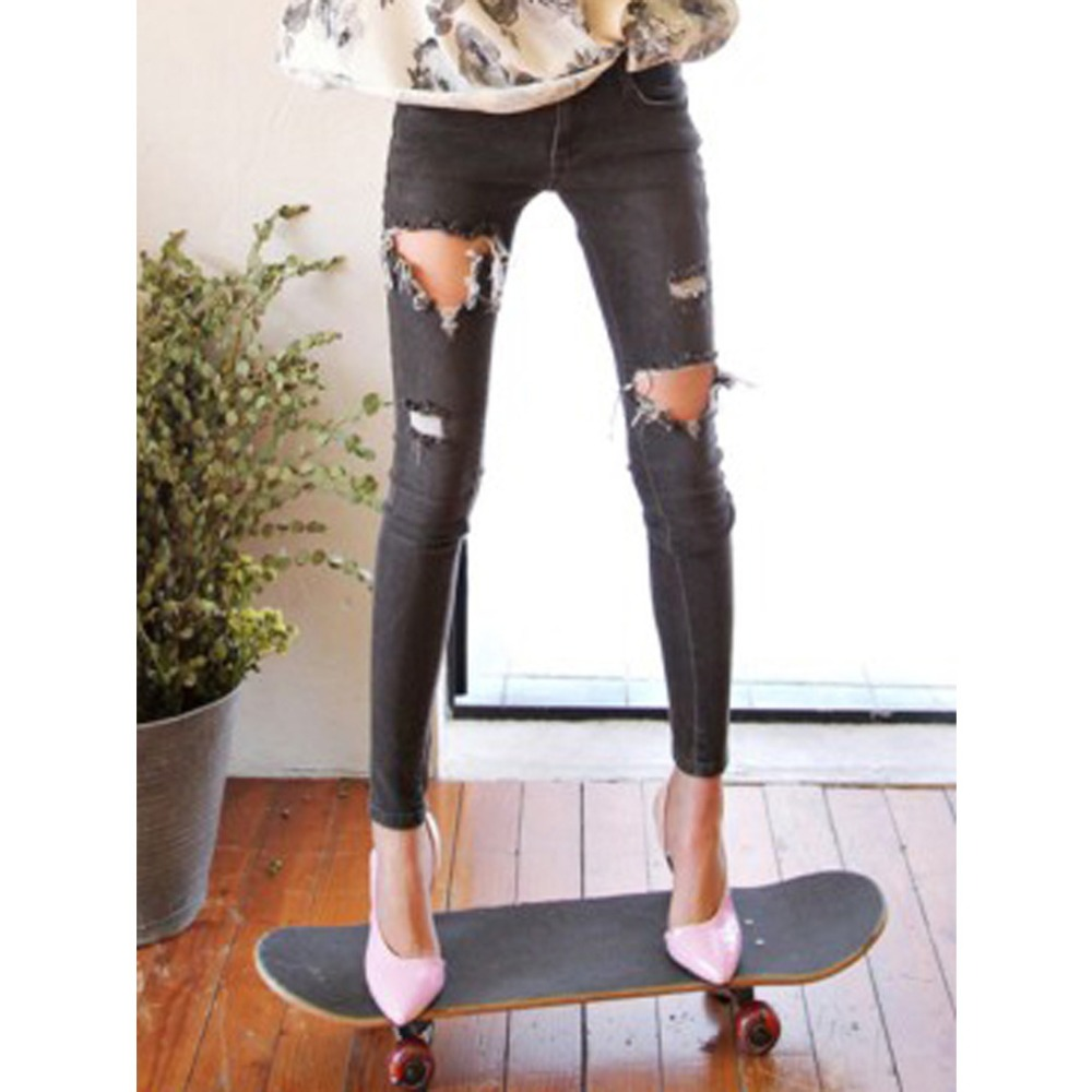Cut Out Jeans For Women