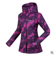 New! women Outdoor jacket Climbing Skiing hiking Jackets Windbreaker waterproof,camouflage Women Warm Coat,2pcs woman cloth suit