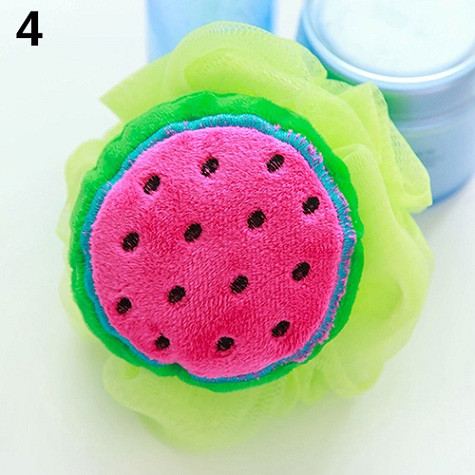 Soft Fruit Shape Bath Puff Shower Sponge Body Foam Bubble Net Ball Body Scrub