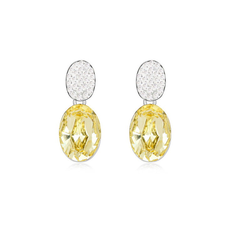 Light Yellow Earrings Studs Made With Swarovski Elements Crystal High Quality Earrings Wedding Favors And Gifts 5 Colors(China (Mainland))