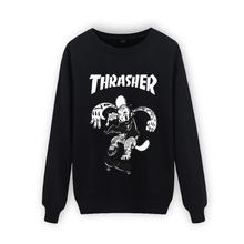 New 2015 thrasher hoodie men sweatshirt mens trasher hoodies and sweatshirts thin felpe sudaderas hombre o-neck hip hop hoodies(China (Mainland))