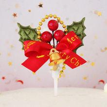 Bolo de natal topper papai noel guirlanda cupcake topper decoração de festa de natal para casa acessórios do bolo decoração 32 estilos(China)