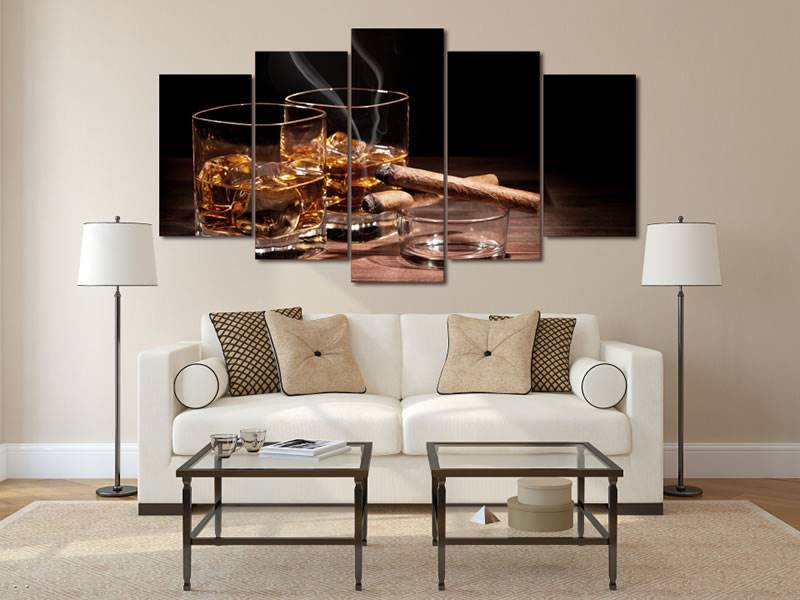 Hd Printed Still Wine Cigar Painting Canvas Print Room Decor Print Poster Picture Canvas Free Shipping/91107