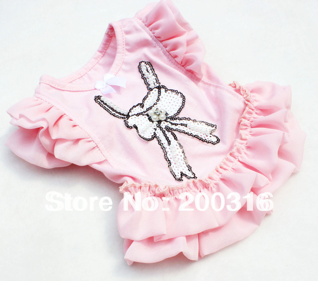 New Cute Pink Flying Dogs Dress Free Shipping 2013 new design