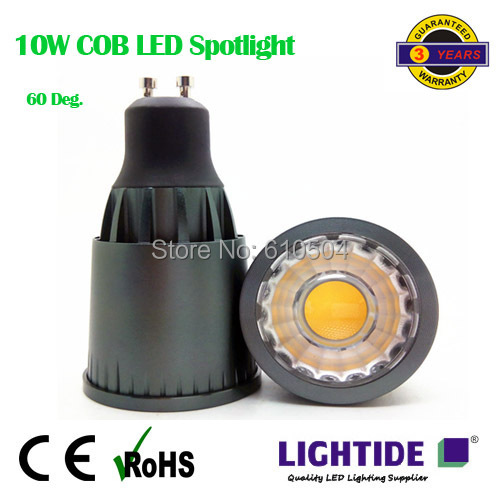 2014 promotion sale epistar gu10 cob led ceiling spotlight lamp, free freight, 60 degree beam, high lumen output, cri 80 above(China (Mainland))