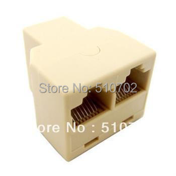 RJ45 Ethernet Connector Splitter 1 to 2 sockets Internet Cable Cat5e Cat5(China (Mainland))