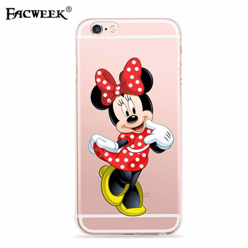 Fashion Cartoon Lovers Mickey Mouse Minnie Soft Silicone Back Cover Fundas Coque For Apple Iphone 6 6s Accessories Phone Case
