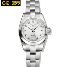 oooViolin quality fully-automatic mechanical watch women's strip commercial waterproof watch Women