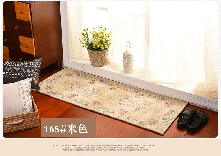 High Quality Embroidery Doormat Size 50x120cm Rectangle Carpet Polyester  Kitchen Rugs Bath Mats Living Room Carpet Home Decorate   Us324