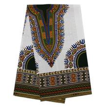 6 ярдов/партия красивый белый hollandais батик воск Нигерия печать красочный узор воск африканская ткань для одежды VH123-2(China)