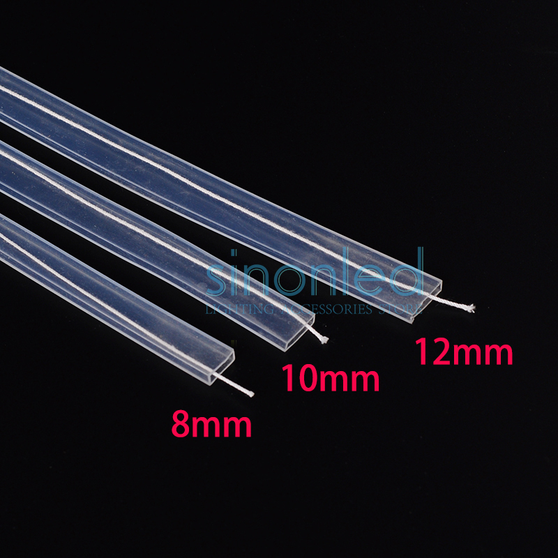 5m 10m length 8mm 10mm 12mm silicon tube ip67 for smd 5050. Black Bedroom Furniture Sets. Home Design Ideas