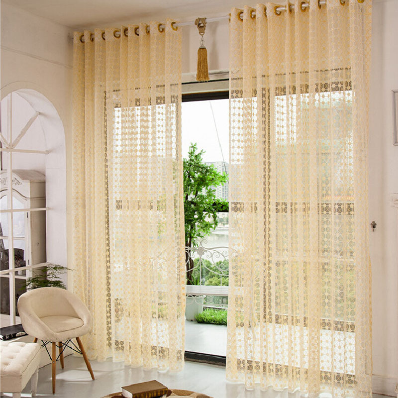 Cortinas para sala cloth for curtains summer style kitchen for Sala de estar beige