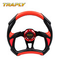 TRAPLY 350MM PVC Steering Wheel MOMO For Racing Cars Rally Red Automobiles Sport Steering Wheel