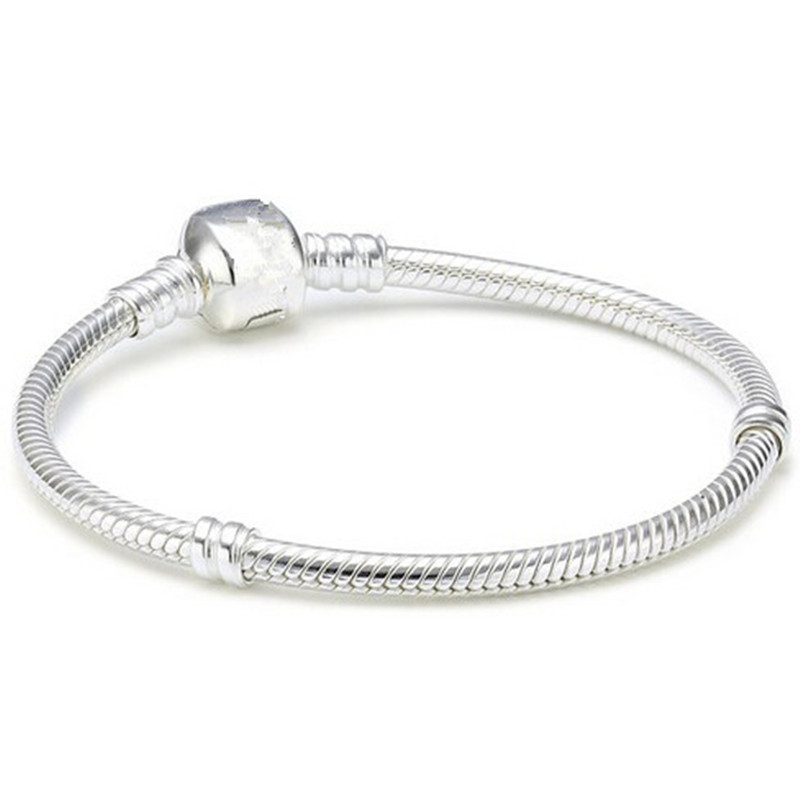 4 Styles 925 Silver gold plated 3MM Snake Chain European Beads fits Bracelet Bangle necklace Chain 16CM-45CM(China (Mainland))