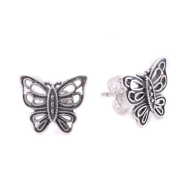 925-sterling-silver бабочки серьгу для женщин DIY Jewerly подходит известная марка ювелирных изделий