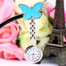 1pc Pocket Medical Nurse Fob Watch Women Dress Watches 4 Colors Clip on Pendant Hanging Quartz