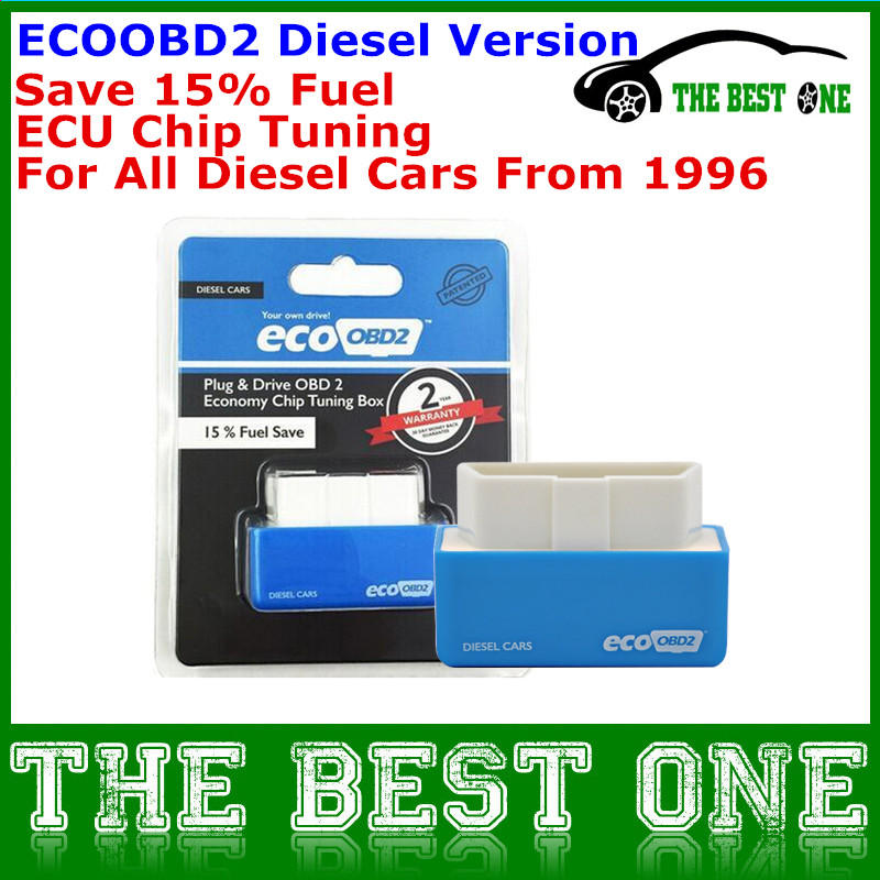 Increase Hidden Power Blue EcoOBD2 Diesel Economy Chip Tuning Box Plug And Drive Eco OBD2 For Diesel Car Lower Fuel And Emission(China (Mainland))