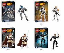 4set Commander Storm soldier Vader blocks self-locking bricks star wars toys action figure minifigures NO compatible with lego