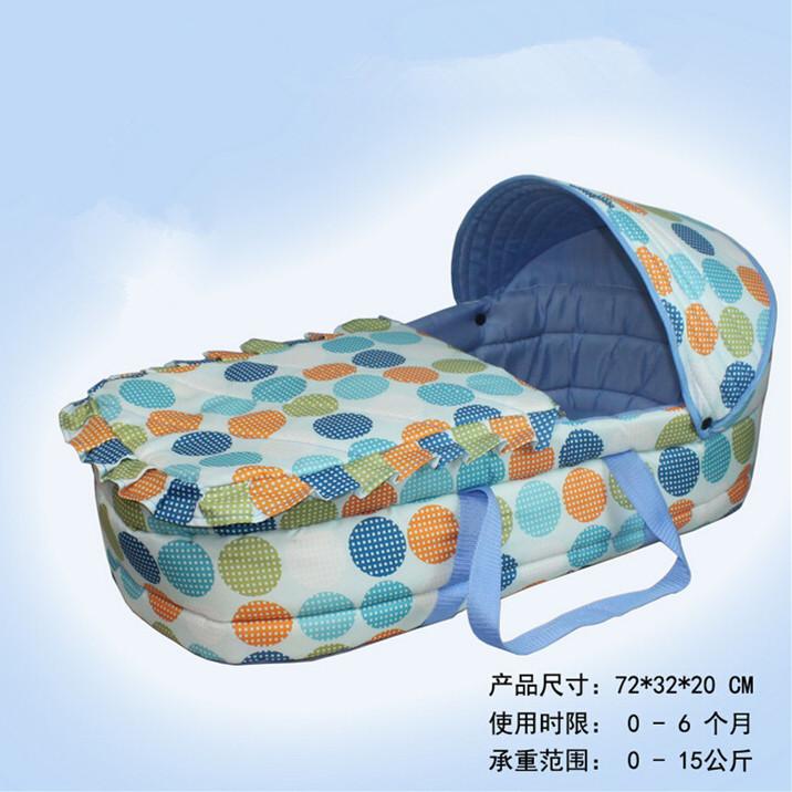 Здесь продается  72*32CM Baby Sleeping Basket Wholesale Newborn Bassinet for Kids 0-6 Months High Quality Cotton Infant Sleepping Cradle 3 Colors  Детские товары