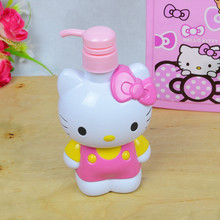 Hello Kitty Small Plastic Containers KT Storage Container Empty Cosmetic Bath Lotion Bottle Hand Sanitizer Bottle(China (Mainland))