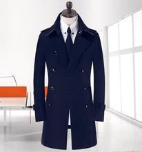 Khaki black beige black double breasted mens trench coats man long coat men clothes slim fit cotton overcoat men plus size 9XL(China (Mainland))